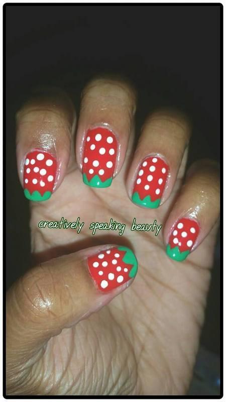Ms. Berry nail art by Kewani Granville