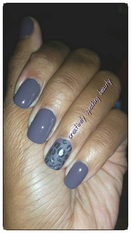 Purple Cheetah nail art by Kewani Granville