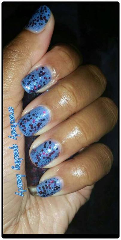 OPI Polka.com and Chine Glaze Rainstorm Swatch by Kewani Granville
