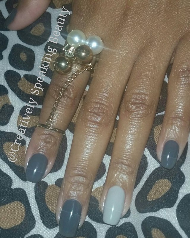 Essie power clutch and Essie playa del platinum Swatch by Kewani Granville