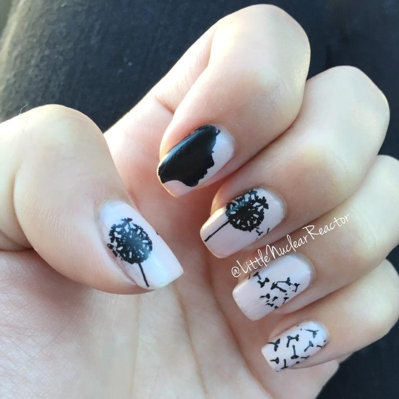 Dandelion Wishes nail art by LittleNuclearReactor