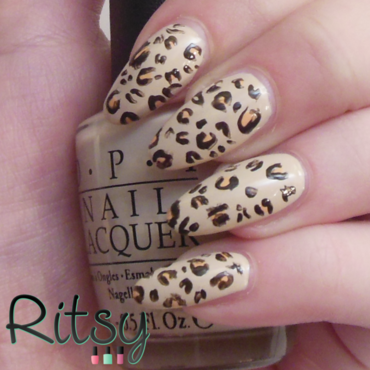 Leopard mani nail art by Ritsy NL