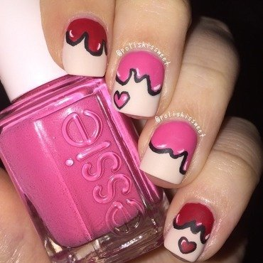 Valentine's Day Paint Drip! nail art by PolishIsSweet