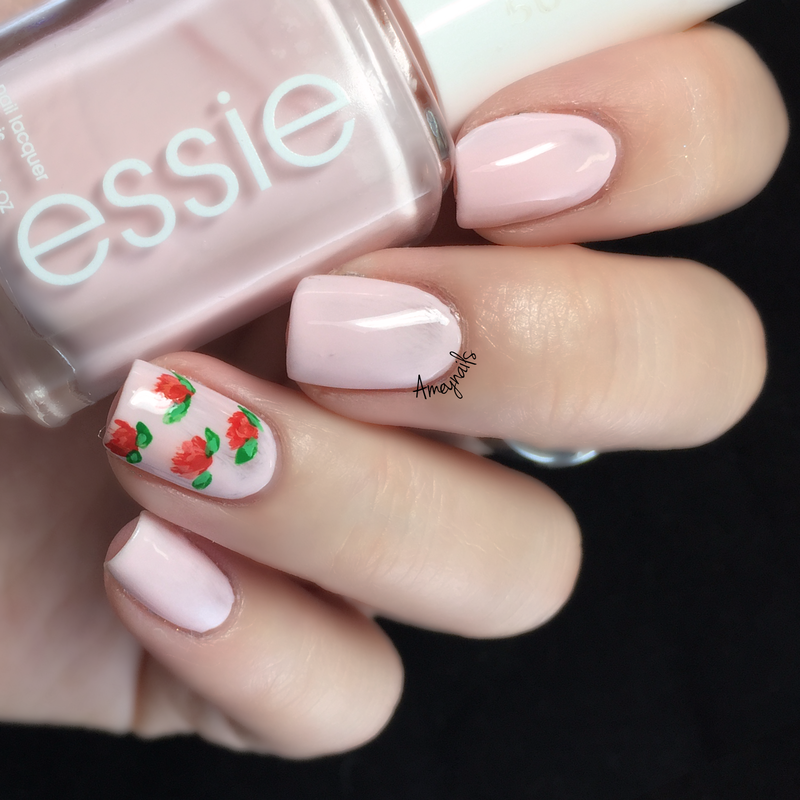 Roses for Vday nail art by Amey