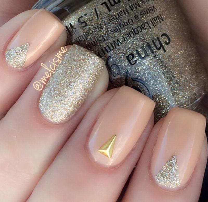 Neutral nail art by Melissa - Nailpolis: Museum of Nail Art
