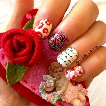 BE MINE nail art by Marla Calandra