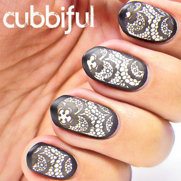 Stamping lace nails thumb370f