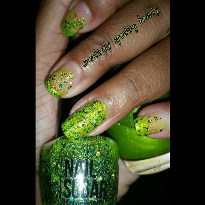China Glaze Guggen I'm Lime and Cinapro Nail Sugar Hyperactive Swatch by Kewani Granville