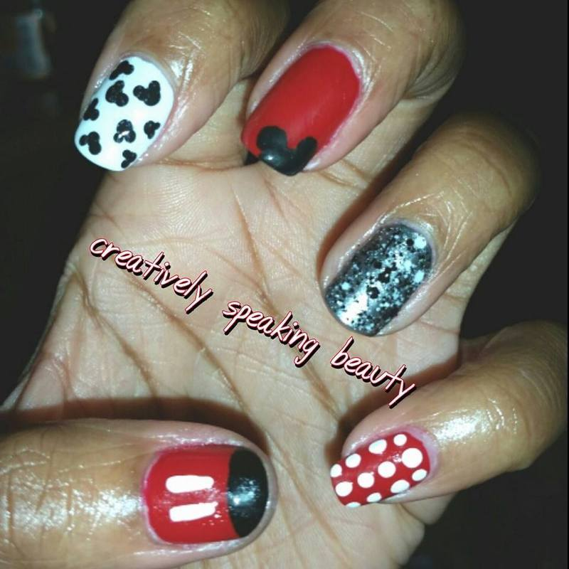 Mickey's World nail art by Kewani Granville