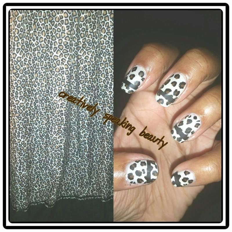 Inspired Cheetah Print nail art by Kewani Granville