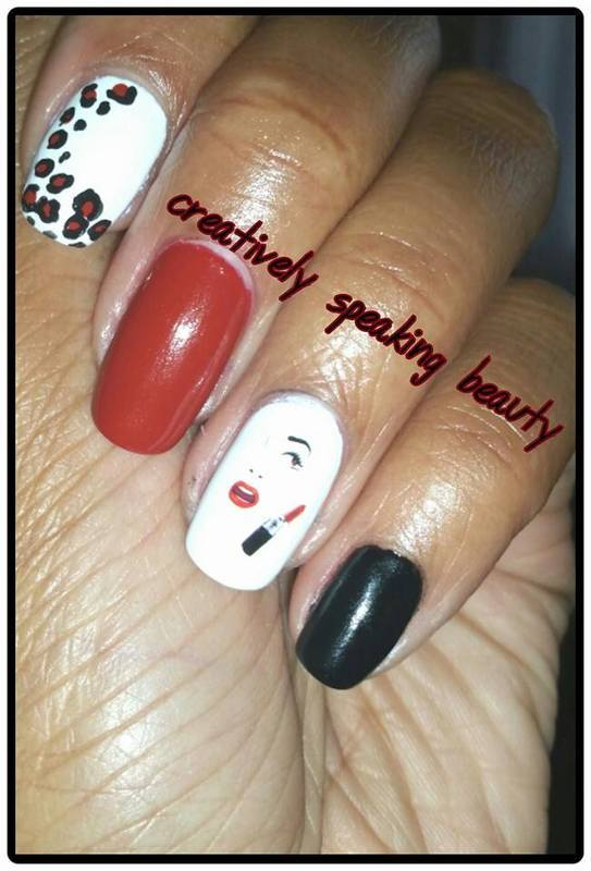 Smooches nail art by Kewani Granville