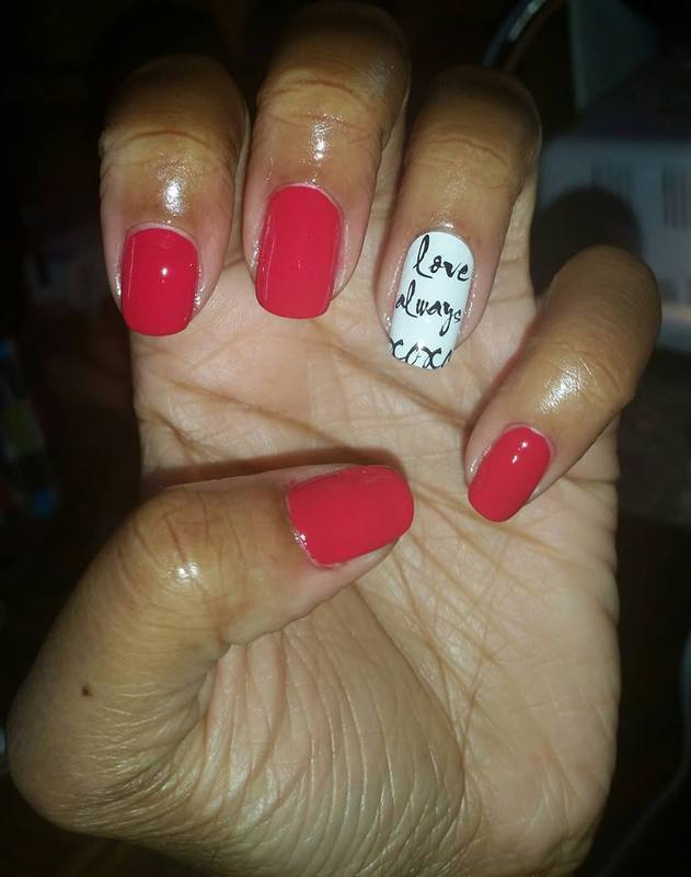 Love Always nail art by Kewani Granville