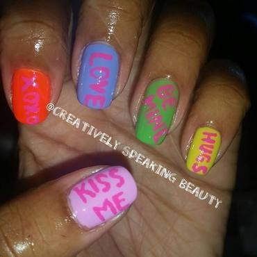 Sweethearts Candy nail art by Kewani Granville