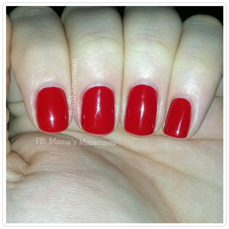 OPI Big Apple Red Swatch by Mama's Manicures (maherwoman)
