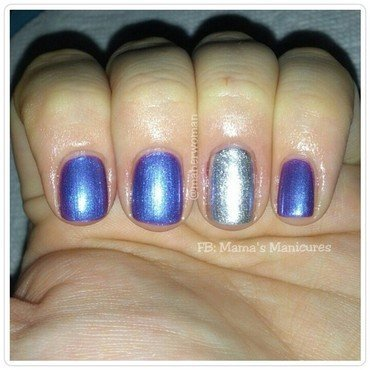 Sally Hansen Celeb City and Sally Hansen Grape Going Swatch by Mama's Manicures (maherwoman)