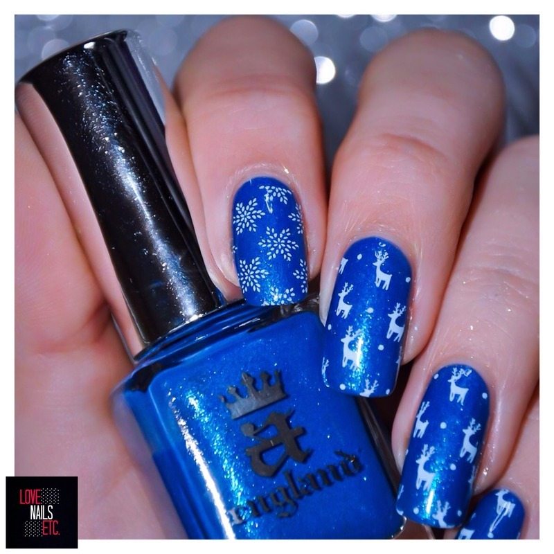 blue christmas nail art by love nails etc - Blue Christmas Nails