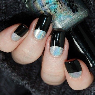 January Nail Art Challenge - Silver nail art by Katie of Harlow & Co.