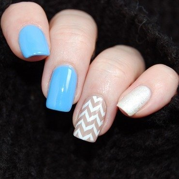 January Nail Art Challenge - Favourite Design nail art by Katie of Harlow & Co.