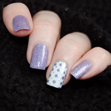January Nail Art Challenge - Sparkles nail art by Katie of Harlow & Co.