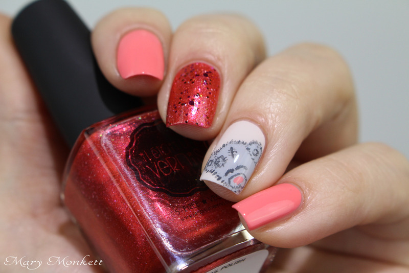 Jeux et jouets nail art by Mary Monkett