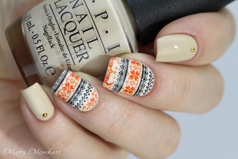 Sweater nails nail art by Mary Monkett