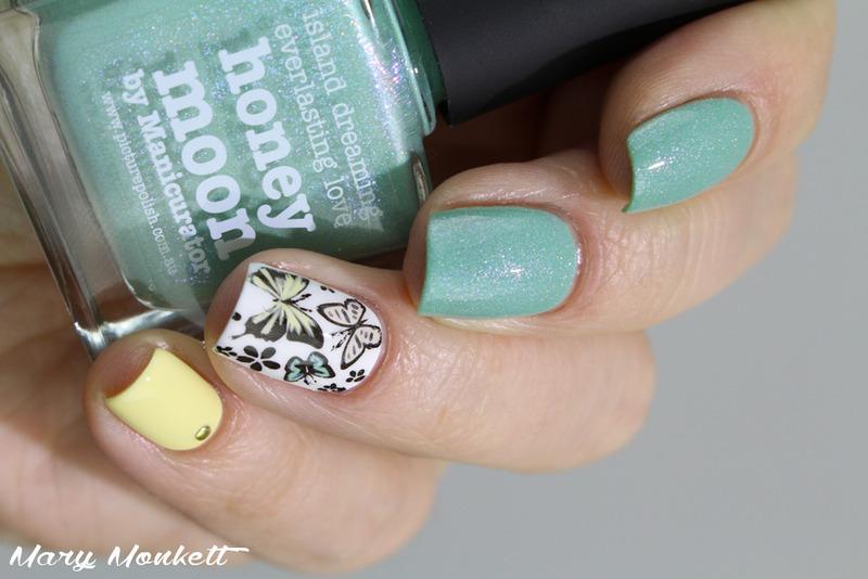 Honey Moon nail art by Mary Monkett