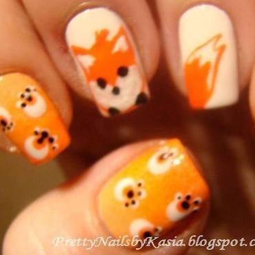Fox :) nail art by Pretty Nails by Kasia