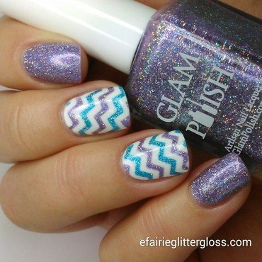 Chevrons nail art by Emma