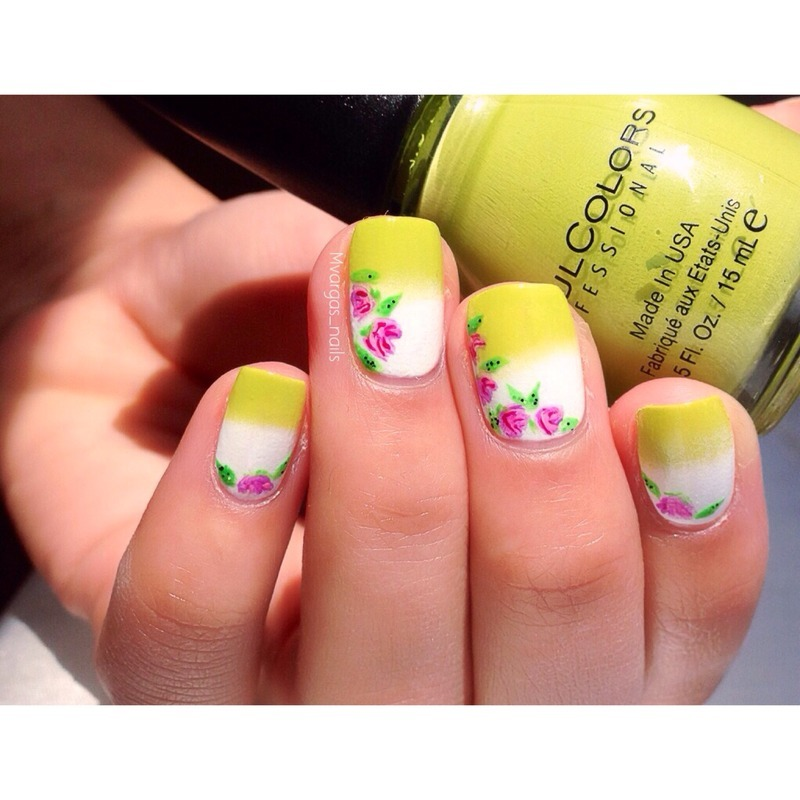 Ready for spring nail art by Massiel Pena