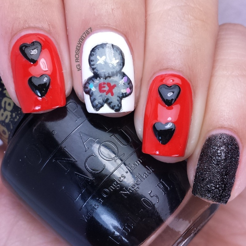 Voodoo You Do nail art by Rose Mercedes
