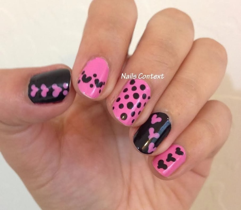 Pink n Bold nail art by NailsContext