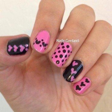 Pink n Bold nail art by NailsContext