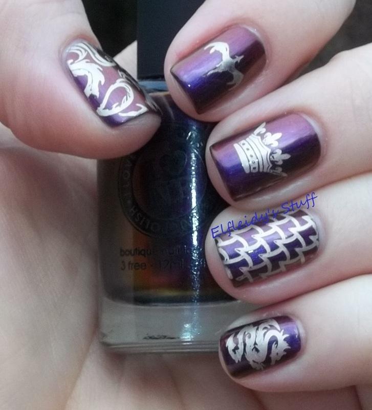 Game of Thrones inspired nail art by Jenette Maitland-Tomblin