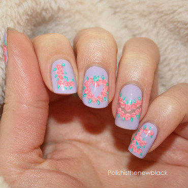 LOVE nail art by Polishisthenewblack