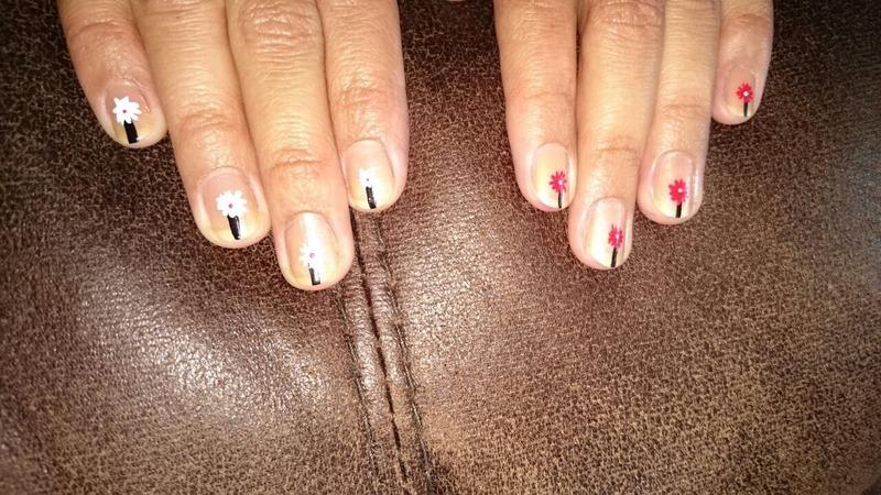 Flower nail art by Ruchi