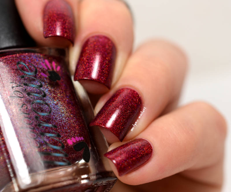 Colors By Llarowe The Mighty Red Baron Swatch by melyne nailart
