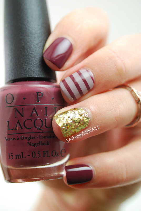 Fall Stripe Nails nail art by Sarah S
