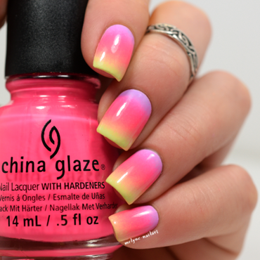 Summer gradient nails nail art by melyne nailart