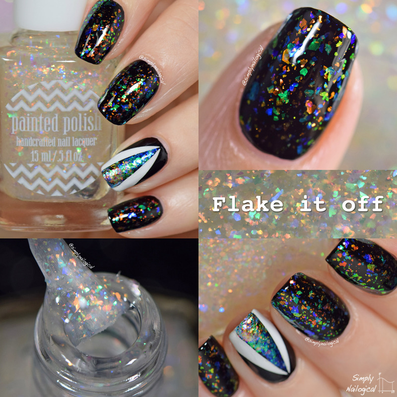 Painted Polish Flake it off Swatch by simplynailogical