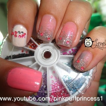 Strawberry Milk Inspired Nails nail art by Leneha Junsu