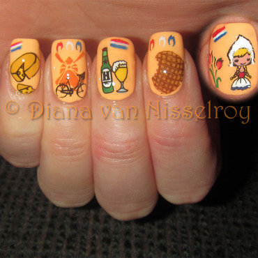 The Netherlands nail art by Diana van Nisselroy