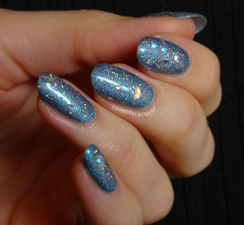 Glittery notd nail art by Love Life Lacquer