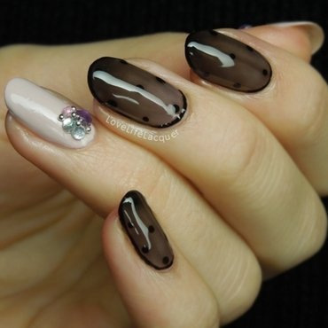 Black thights classy party nail art lovelifelacquer blog thumb370f