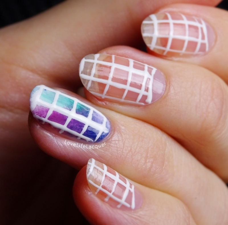 Modern colourburst nail art nail art by Love Life Lacquer
