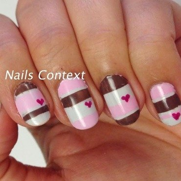 Valentine's Colorblock nail art by NailsContext