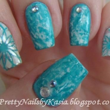 Winter saran wrap nail art by Pretty Nails by Kasia