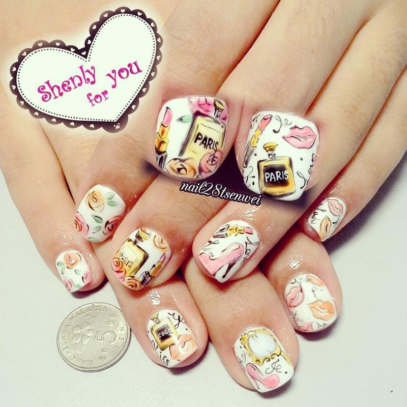 channel lover nail art by Weiwei