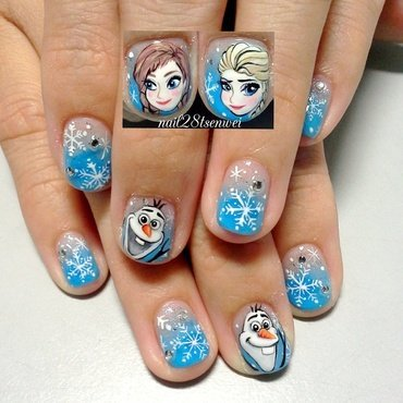 frozen  nail art by Weiwei