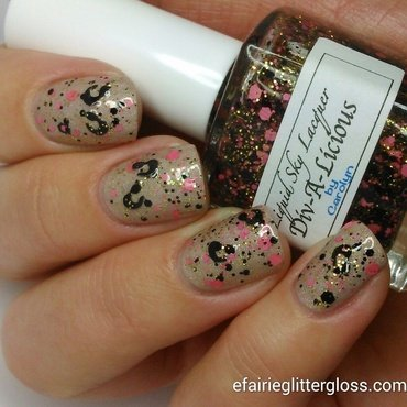 Liquid Sky Lacquer Div-A-Licious and Liquid Sky Lacquer Head To The Bahamas Swatch by Emma