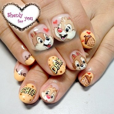 chip and dale nail art by Weiwei